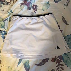 white adidas skirt